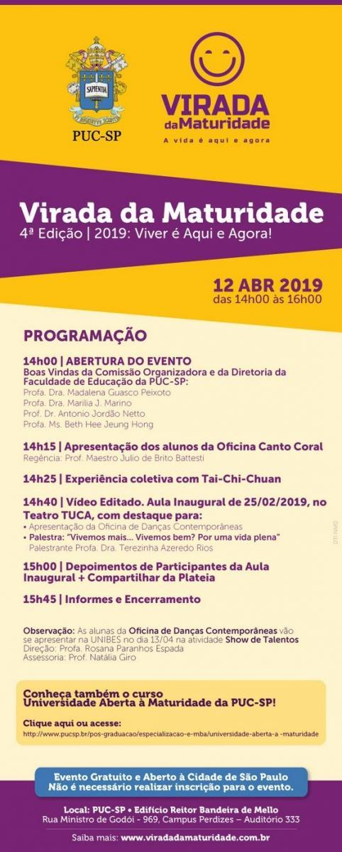 1fad7998f Virada da maturidade: atividades no campus Monte Alegre | Jornal PUC-SP