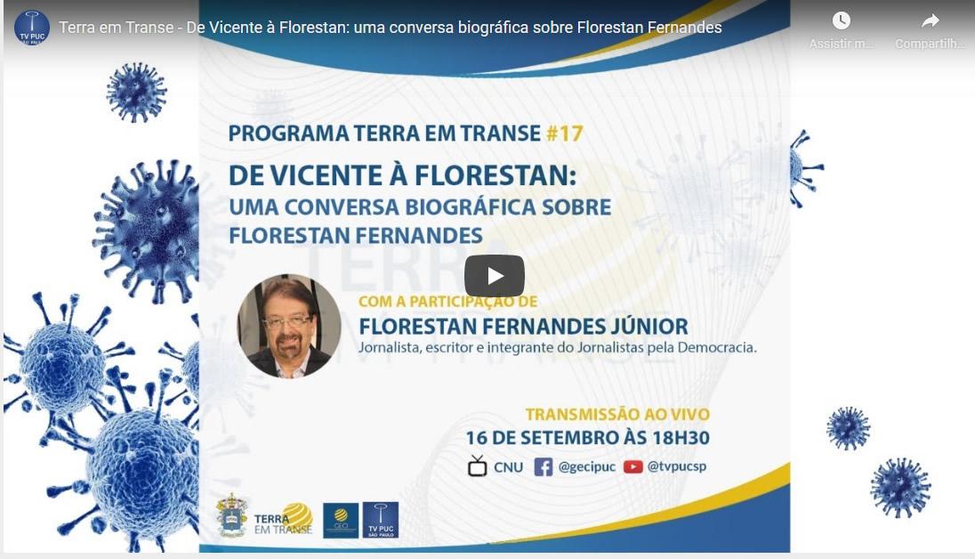Embedded thumbnail for De Vicente à Florestan: uma conversa biográfica sobre Florestan Fernandes
